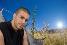 Free Man Camping Stock Images - 8048704