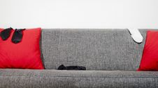 Free Sofa And Socks Stock Photography - 8048782