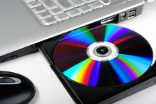 Free Laptop With Disk Stock Images - 8048854