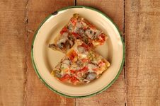 Free Italian Pizza For Breakfast Stock Images - 8048974