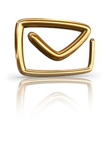 Free Gold Mail Button Stock Images - 8049074