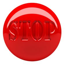 Free Stop Button Stock Image - 8049161