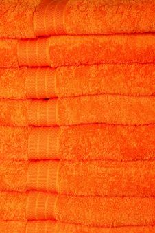 Free Orange Towels Stock Image - 8049371