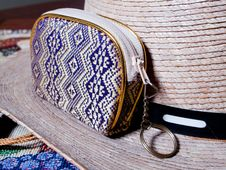 Hat And Pouch Stock Photography