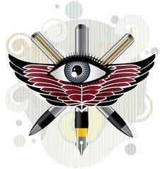 Free Eye & Pen Stock Photo - 8049700