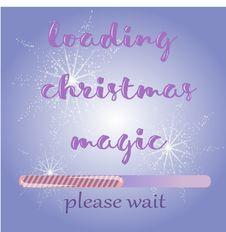 Free Merry Christmas Loading. Stock Photo - 80422420