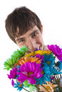 Free Holding Colorful Flowers Stock Images - 8053324
