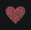 Free Red Heart Shape On Black Background Royalty Free Stock Images - 8057739