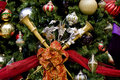 Free Christmas Tree With Horns Ribbons And Balls Royalty Free Stock Photography - 8058387