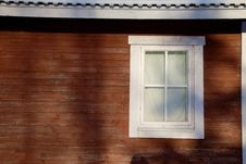 Free Window In Red Wall Stock Photography - 8050092