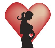 Free Pregnant Silhouette Royalty Free Stock Image - 8050096