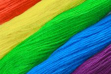 Free Colorful Threads Royalty Free Stock Photo - 8050135