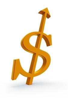 Free Rising Dollar Royalty Free Stock Photo - 8050155