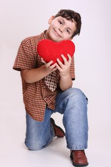 Free Boy And Heart Stock Photos - 8050753