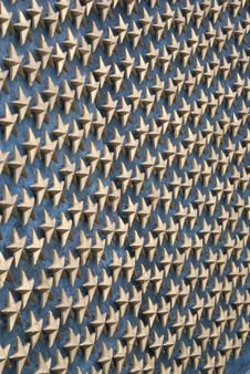 Free Wall Of Gold Stars Royalty Free Stock Photos - 8051098
