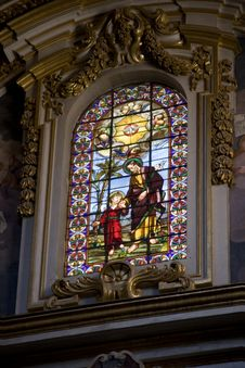 Maltese Church Window Royalty Free Stock Image