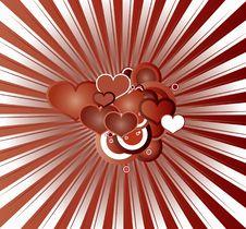 Free Retro Red Hearts Valentine Stock Image - 8051471