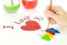 Free Valentines Day Drawing Royalty Free Stock Photography - 8051507