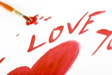 Free I Love You Sign Stock Photo - 8051520