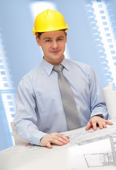 Free Young Architect Is Working Stock Images - 8051584