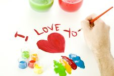 Free Valentines Day Painting Stock Image - 8051611