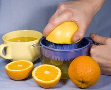 Free Fresh Oranges And Orange Juice Stock Photo - 8052020