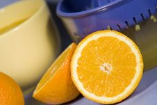 Free Fresh Oranges And Orange Juice Stock Photography - 8052022