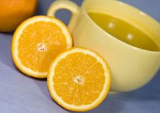 Free Fresh Oranges And Orange Juice Royalty Free Stock Photo - 8052035
