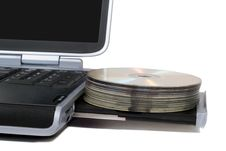 Free Laptop With Overloaded DVD Drive Stock Image - 8052341