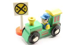 Free Toy Train And Crossing Stock Photo - 8052950