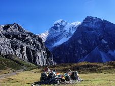 Free Yading,the Location Of The Legendary Shangri-La,Ve Royalty Free Stock Photography - 8053277