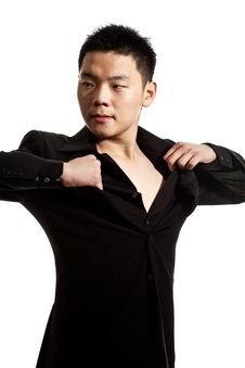 Free Stylish Asian Young Man Stock Photography - 8053332