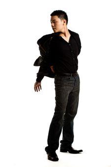 Free Stylish Asian Young Man Stock Image - 8053341
