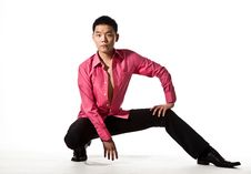 Free Asian Young Man In Stylish Attire Royalty Free Stock Image - 8053436
