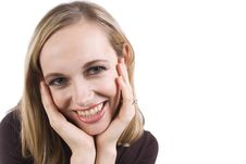 Free A Pretty Girl Smiles At The Camera Royalty Free Stock Image - 8053616