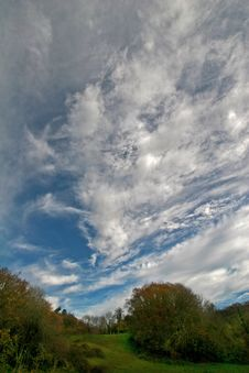 Free Clouds Over Meadow Royalty Free Stock Photography - 8054737