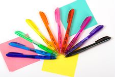 Free Color Pens Stock Photography - 8054912