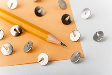 Free Yellow Pencil With Knobs Stock Image - 8054921