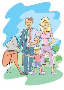 Free Happy Family Royalty Free Stock Photography - 8055107