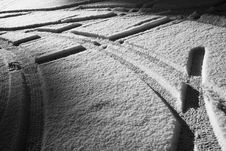 Free Snow Covered Parking Place Stock Photos - 8055243