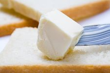 Free Butter, Bread And Knife Royalty Free Stock Photography - 8055767