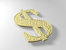 Free Golden Dollar Stock Photography - 8056132