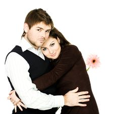 Free Couple With Flower Royalty Free Stock Images - 8056149
