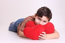 Free Boy And Heart Royalty Free Stock Photo - 8056715