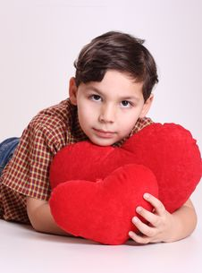 Free Boy And Heart Royalty Free Stock Photo - 8056875