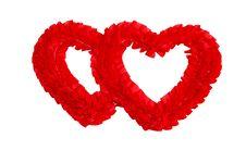 Free Valentine S Heart With Ribbon. Stock Photos - 8057743