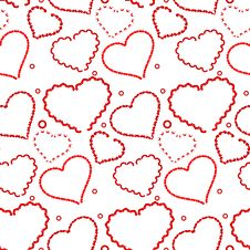 Free Seamless Valentine Background Royalty Free Stock Photography - 8058787