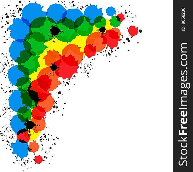 Framework from colour circles