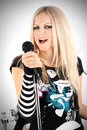 Free Rock-n-roll With The Beautiful Blonde Stock Image - 8061271