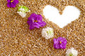 Free Heart With The Flowers Stock Image - 8061431